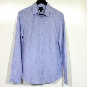 J. Crew Slim Perfect Shirt Irish Linen Button Down